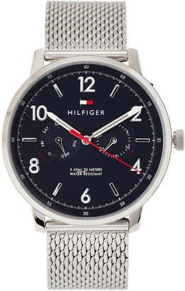 Tommy Hilfiger 1791354 Silver-Tone & Blue Watch