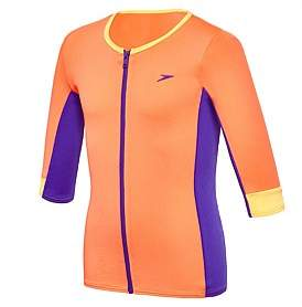 Speedo Zip Up 3/4 Sleeve Rashie