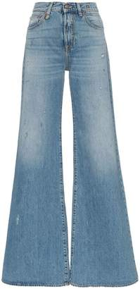 R 13 holly wide leg jeans