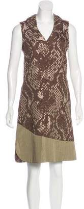 Issey Miyake Patterned Midi Dress