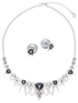 Swarovski Crystal Statement Necklace & Stud Earrings Set