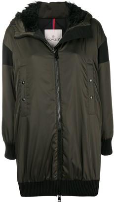 Moncler front zipped coat
