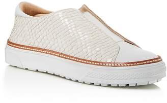 Delman Embossed Slip On Sneaker $248 thestylecure.com
