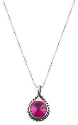 Sterling Silver Swarovski Crystal Scarlet Rope Necklace