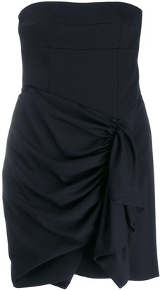 Alexandre Vauthier gathered draped front dress