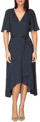 Bobeau B Collection by Orna Dot-Printed Wrap Dress