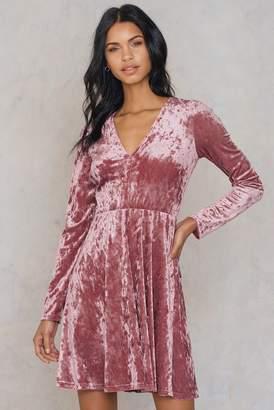 Na Kd Party Velvet V-neck Dress