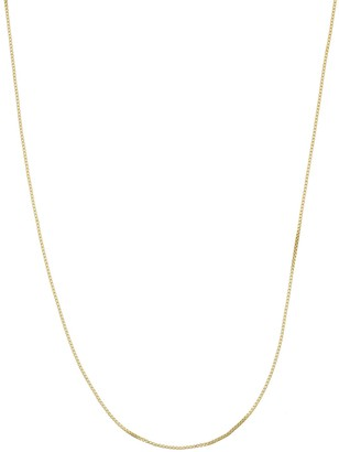 Primavera 24k Gold Over Silver Venetian Box Chain Necklace