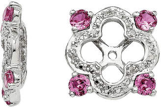 FINE JEWELRY Diamond Accent & Lab-Created Pink Sapphire Sterling Silver Earring Jackets