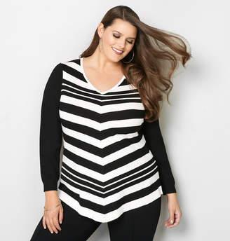 Avenue Mitered Stripe Pullover