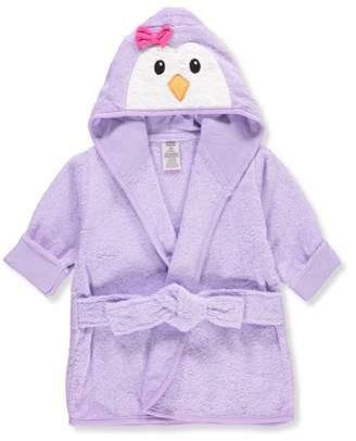 Luvable Friends Baby Woven Terry Animal Bathrobe, Purple Penguin
