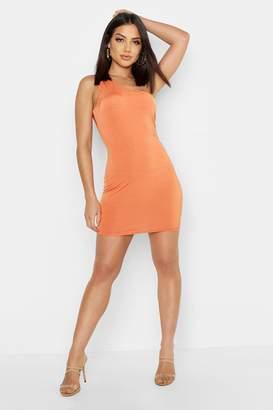 boohoo Slinky One Shoulder Mini Dress