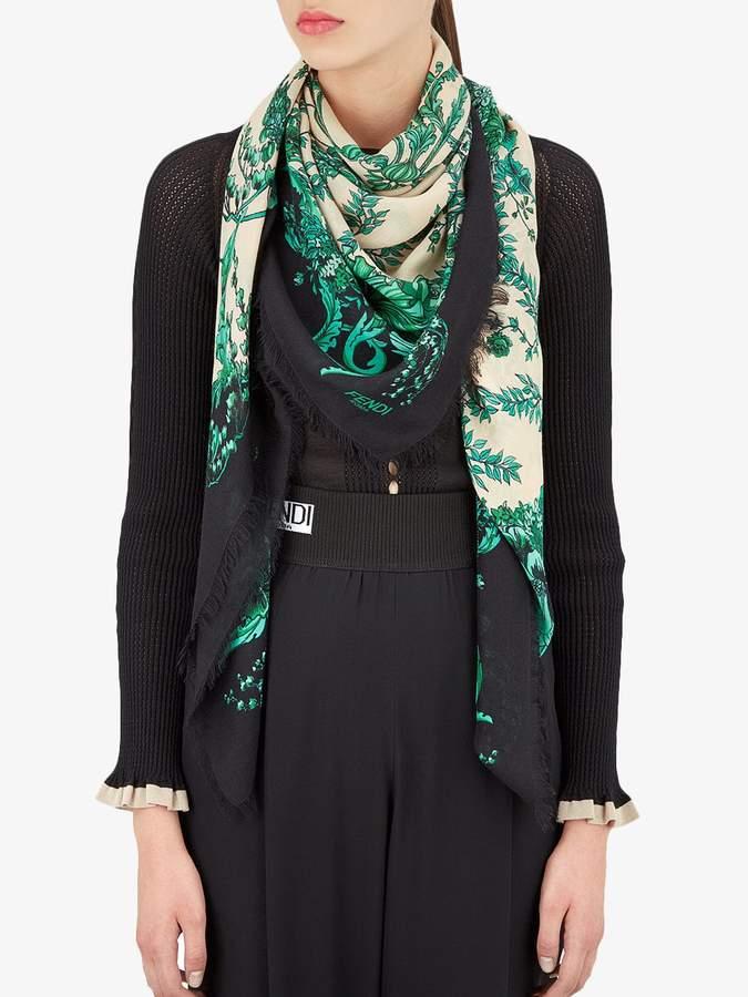 Fendi floral-print scarf