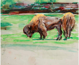 One Kings Lane Vintage Buffalo by Marshall Goodman - RoGallery Art