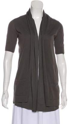 Theory Short Sleeve Open Front Cardigan