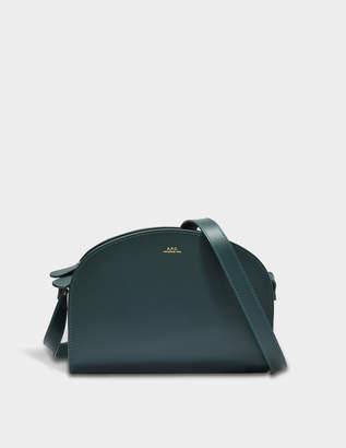 A.P.C. Demi Lune Bag in Pine Green Shiny Calfskin