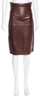 Bottega Veneta Leather Knee-Length Skirt