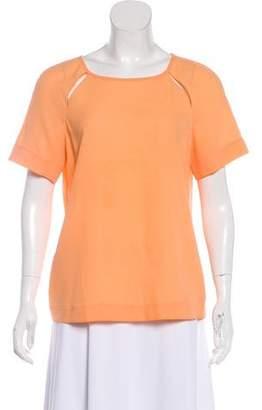 Tibi Cutout Short Sleeve Top