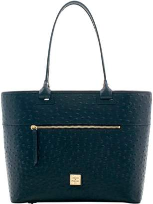 Dooney & Bourke Ostrich Large Zip Tote