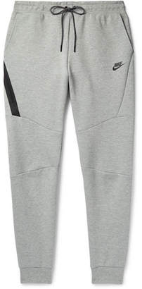 Nike Slim-Fit Tapered Mélange Cotton-Blend Tech Fleece Sweatpants