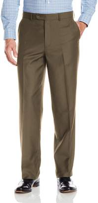 Linea Naturale Men's Flat Front Travel Genius Microfiber Trouser