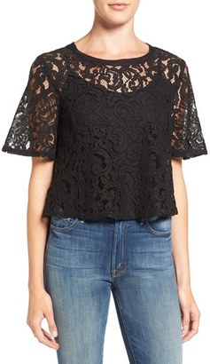 Women's Splendid Tie Back Lace Crop Top $118 thestylecure.com