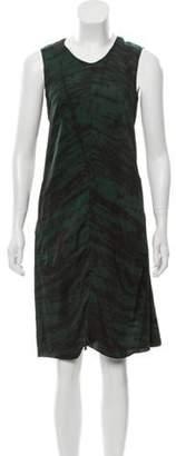 Marni Abstract Print Mini Dress Green Abstract Print Mini Dress