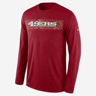 Nike Dri-FIT Legend Seismic (NFL 49ers) Men's Long Sleeve T-Shirt