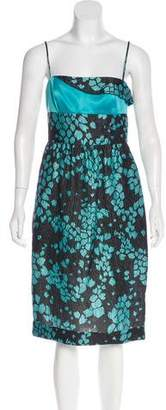 Armani Collezioni Printed Silk-Blend Dress