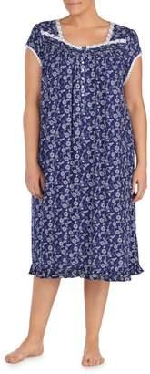 Eileen West Print Nightgown
