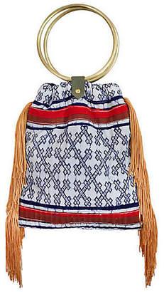 Gaia Traveler Fringe Crossbody Bag - Blue
