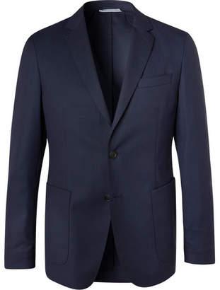 HUGO BOSS Navy Hooper Slim-Fit Unstructured Virgin Wool-Blend Suit Jacket - Men - Navy