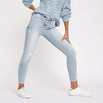 River Island Womens Light blue Molly distressed skinny jeggings