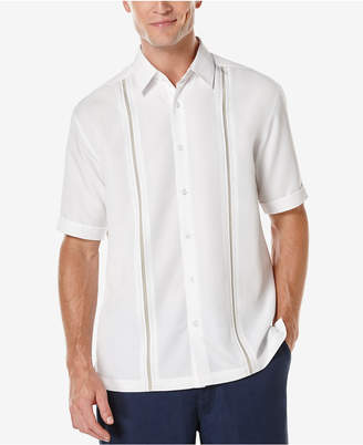 Cubavera Men Contrast Stitch Short-Sleeve Shirt
