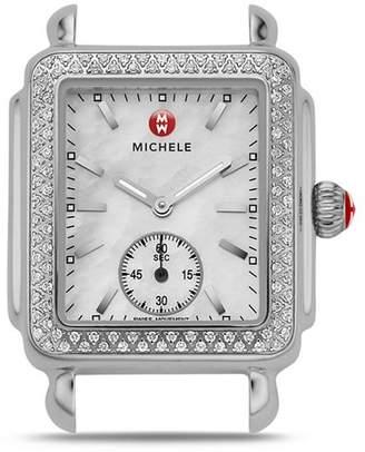 Michele Deco 16 Diamond Stainless Steel Watch Head, 29 x 31mm