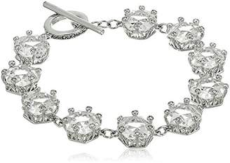 Carolee Crystal Abbey Single Row Linear Flex Strand Bracelet