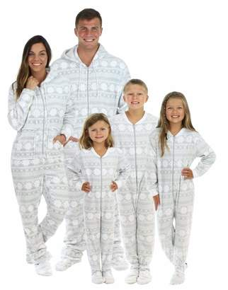 8d1dccdc8 SleepytimePjs Family Matching Grey Snowflake Onesie PJs Footed Pajamas -  (STM17-3020-M