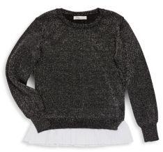 Girl's Crewneck Sparkling Sweater $24.99 thestylecure.com