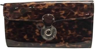 Ralph Lauren Brown Patent leather Wallets