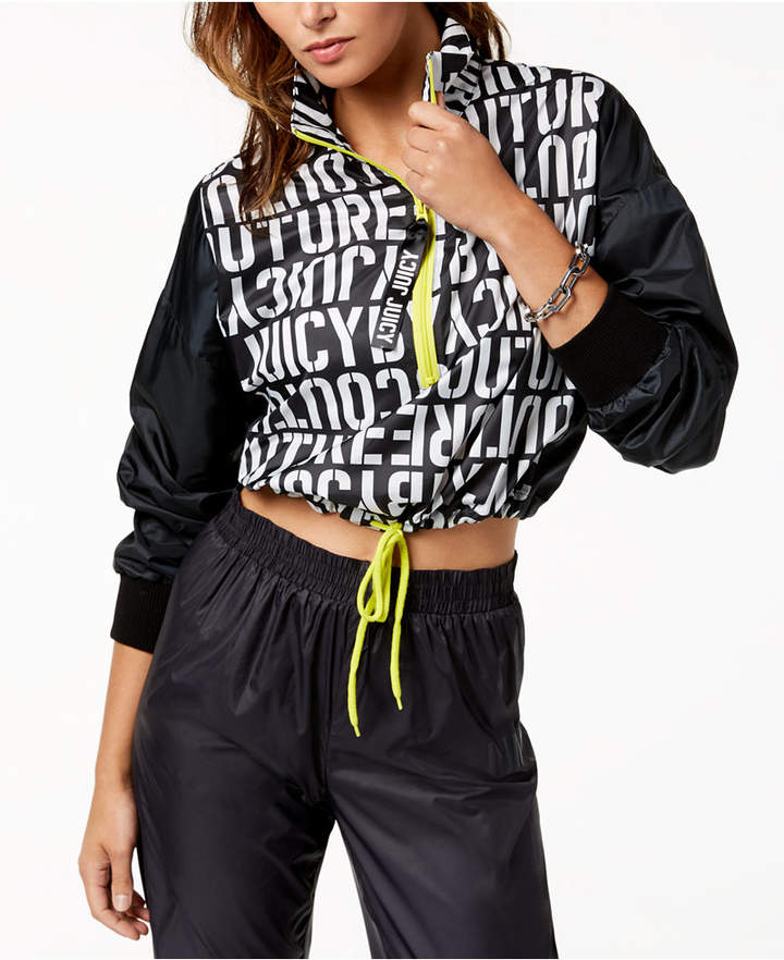 Juicy Couture Mock-Neck Cropped Jacket