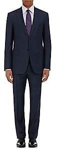 Barneys New York Men's Lotus Wool Sharkskin Two-Button Suit - Navy