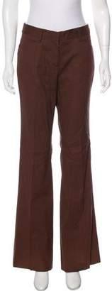 BCBGMAXAZRIA Mid-Rise Linen-Blend Pants