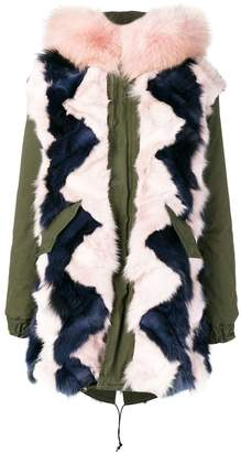 Mr & Mrs Italy fur-trim parka coat