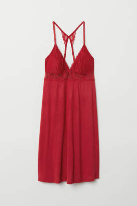 H&M Nightgown with Lace - Red