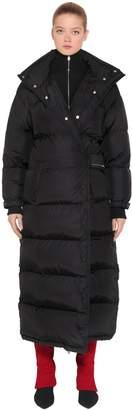 Prada Oversized Nylon Long Down Jacket