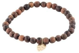 Sydney Evan 14K Wood Bead Bracelet
