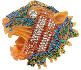 Gucci Rajah brooch with ivy motif
