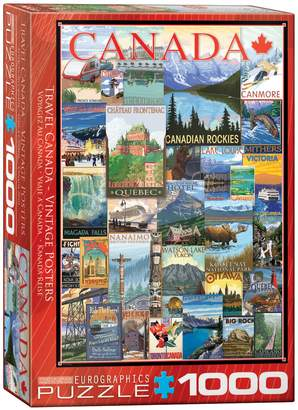 Eurographics Travel Canada Vintage Poster 1000-Piece Jigsaw Puzzle Set