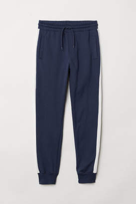 H&M Joggers with Side Stripes - Blue