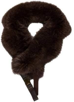Max Mara 'S Fox Fur Wrap Collar